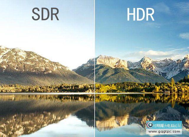 SDR和HDR画面对照